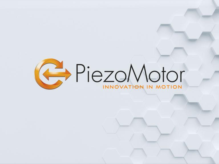 piezo motor logo poly background